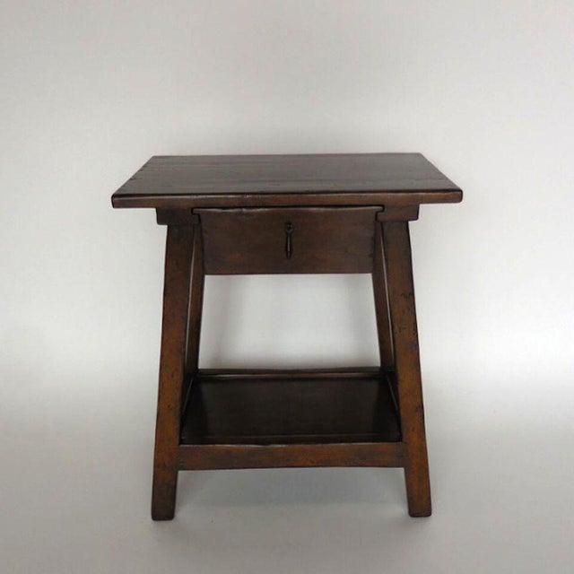 Custom Wood Nightstand/Side Table with Drawer and Shelf - Image 3 of 9