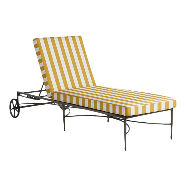 Summer Classics Roma Chaise in Halo Mustard For Sale