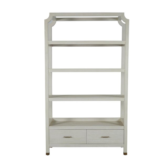 2020s Gabby Home Crest Bookcase For Sale - Image 5 of 13