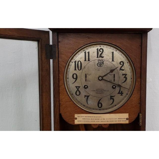 "Vintage ""International Time Recording"" Time Clock C.1930s For Sale - Image 4 of 8"