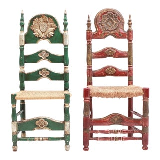 Spanish Ceremonial Chairs, 19th Century