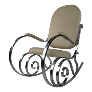 Mid-Century Modern Rocking Chair by Maison Jansen For Sale