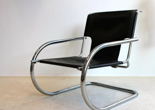 Arrben Arrben Chrome Leather Easy Chairs For Sale   Image 4 Of 9