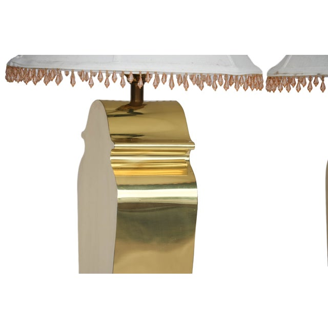 Mid-Century Chapman Brass Table Lamps - A Pair - Image 5 of 10