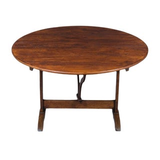 1900s French Flip Top Wine Tasting Table For Sale
