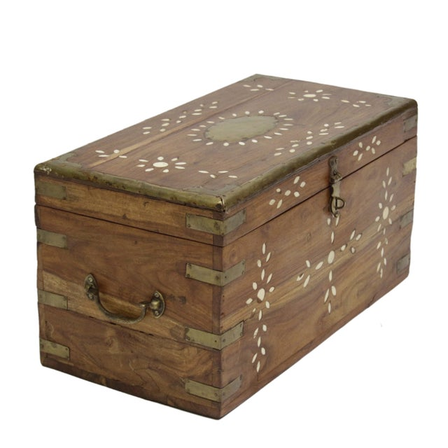 Anglo Indian Bone Inlaid Cash Box - Image 2 of 3