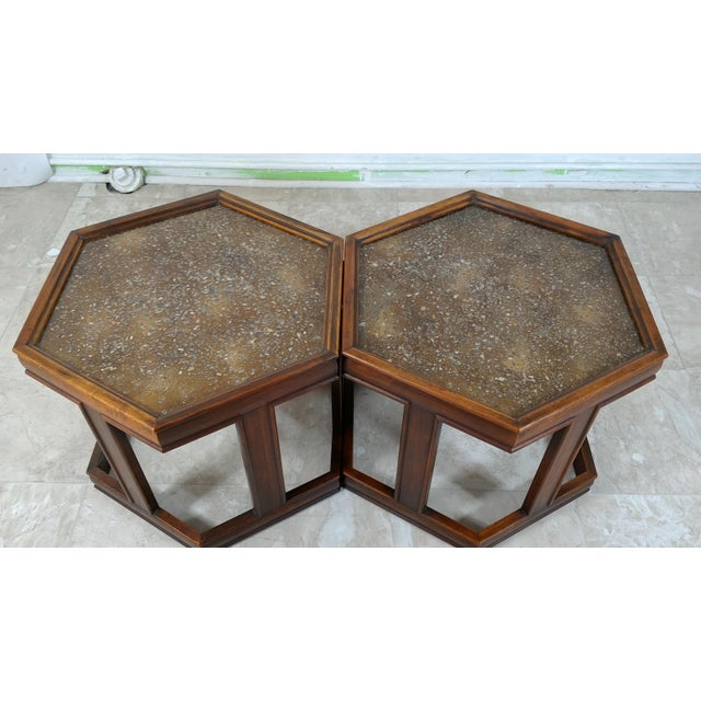 John Keal 1960s Mid-Century Modern Brown and Saltman End Tables - a Pair For Sale - Image 4 of 12