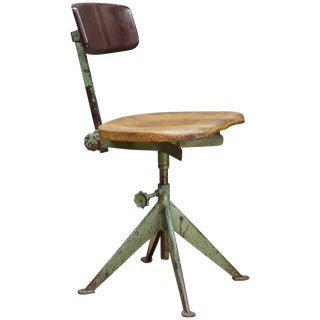 1950s Parisian Experfi Bervete Drafting Chair s.g.d.g. Attributed to Jean Prouve For Sale