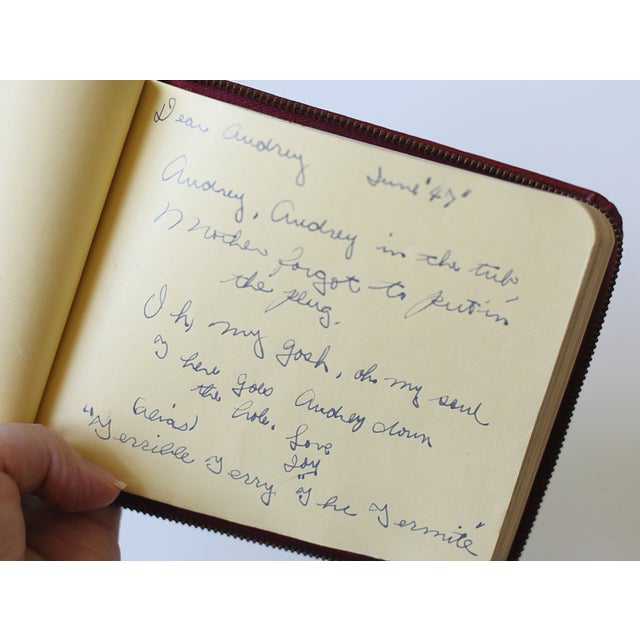 1947 Red Leather Autograph Book - Image 4 of 4