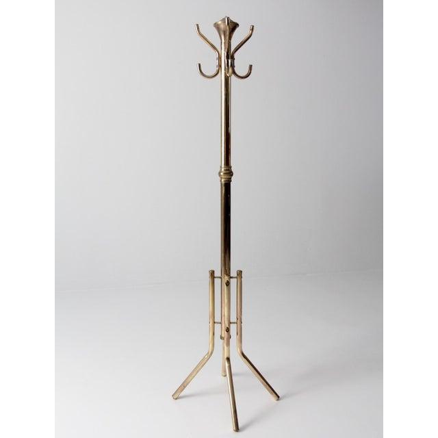 Hollywood Regency Vintage Brass Coat Rack For Sale - Image 3 of 9