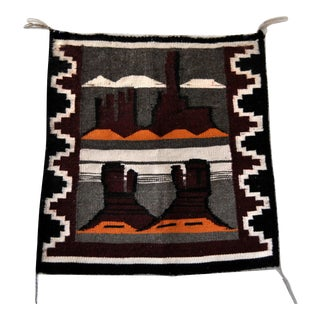 Navajo Hand Woven Pictorial Rug For Sale