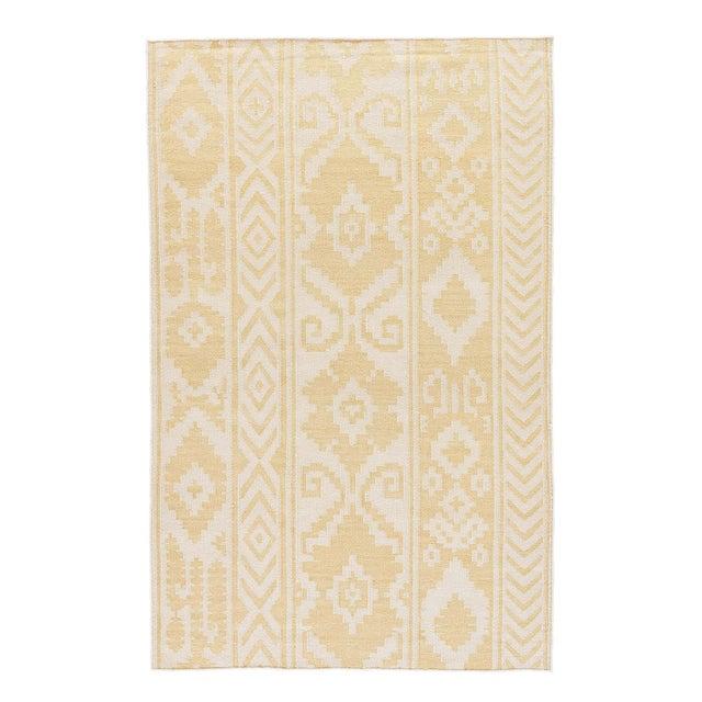 Jaipur Living Farid Handmade Ikat Yellow/ Cream Runner Rug - 2′6″ × 8′ For Sale In Atlanta - Image 6 of 6