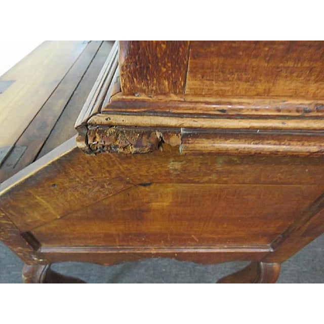 18th C. Louis XVI Style French Inlaid Secretary Desk For Sale - Image 9 of 10