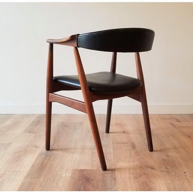 Farstrup Thomas Harlev Model 213 Side Chair in Teak and Black Leatherette for Farstrup Møbler For Sale - Image 4 of 12