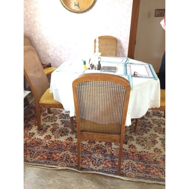Vintage Dining Table & Cane Back Chairs For Sale - Image 5 of 7