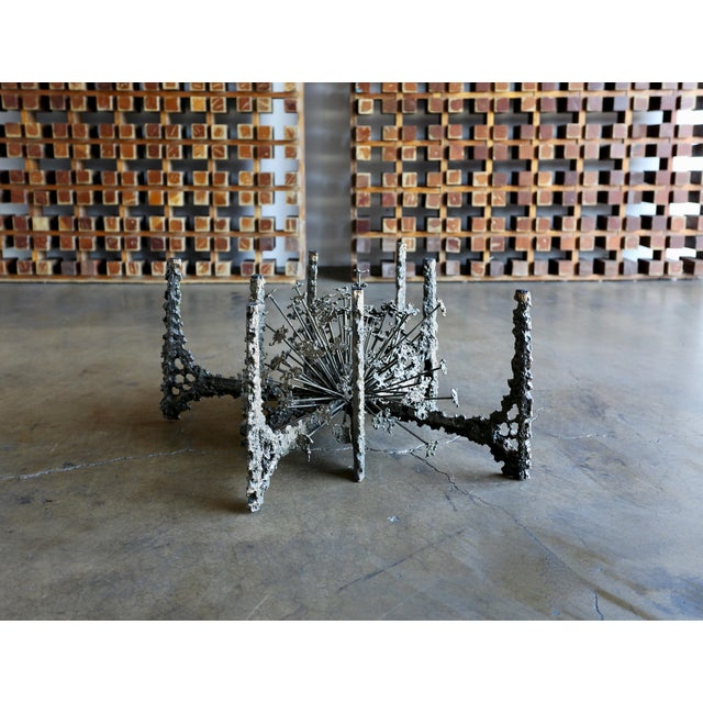Metal Sculptural Coffee Table by Daniel Gluck For Sale - Image 7 of 10