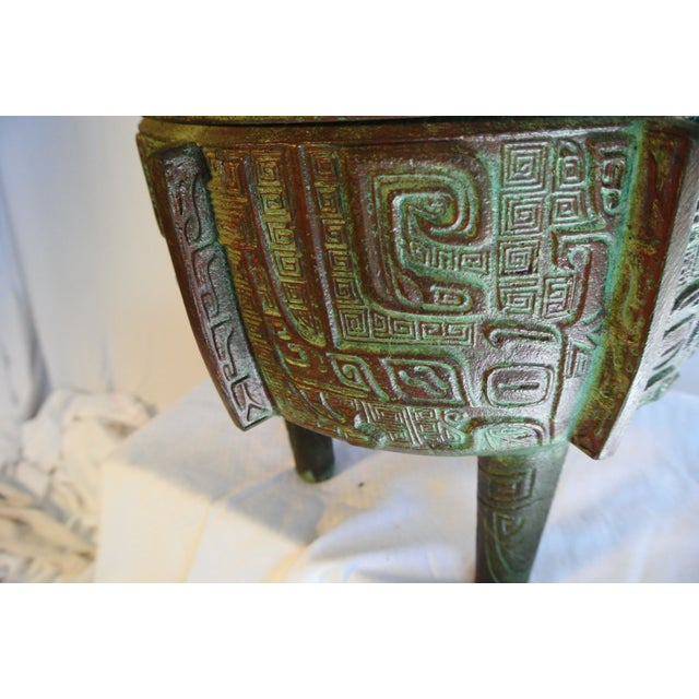 Aztec Style Covered Urn/Ice Bucket by James Mont - Image 3 of 5