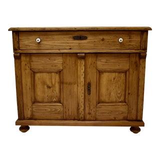 Pine Two Door Dresser Base For Sale