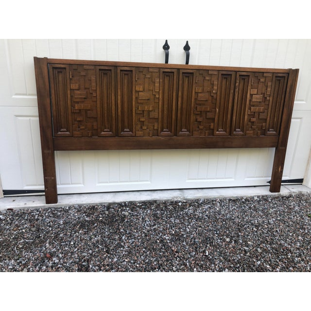 1970s Brutalist King Sized Headboard For Sale In Charleston - Image 6 of 8