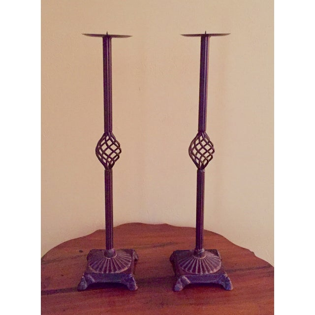 Iron Pricket Candlesticks - A Pair - Image 2 of 6