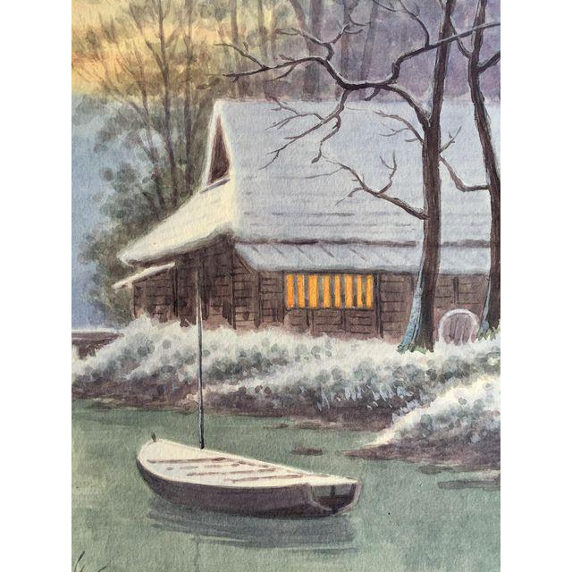 Japanese Landscape Watercolor Painting - Image 7 of 9