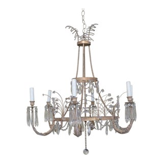 1980s Vintage Russian Crystal Chandelier For Sale