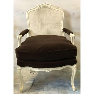 French Style Brown Mohair Chairs - A Pair Preview