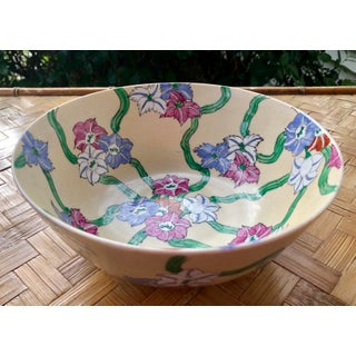 Chinese Floral Chintz Hand Painted Catchall Bowl Preview
