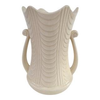 Ivory Mid Century USA Pottery Vase