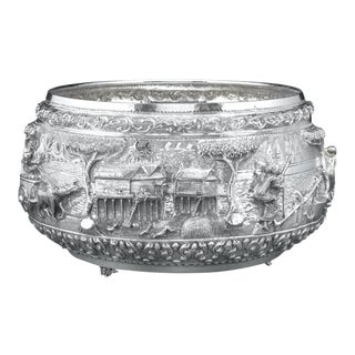 Burmese Silver Bowl For Sale