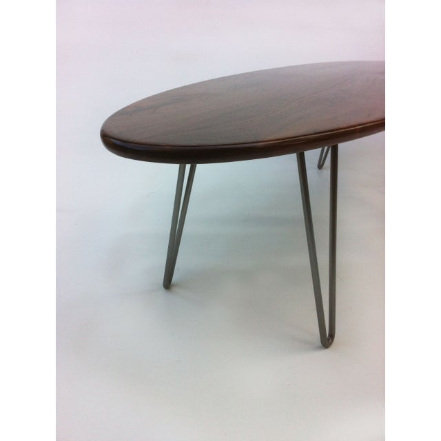 Elliptical Surf Board Table Handmade Solid Walnut - Image 5 of 5