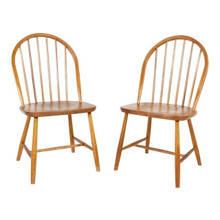 1960s Vintage Erik Ole Jorgensen Danish Teak Windsor Chairs- a Pair For Sale