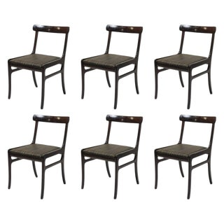 Mid Century Modern Ole Wanscher Refinished Mahogany Dining Chairs- Set of 6 For Sale