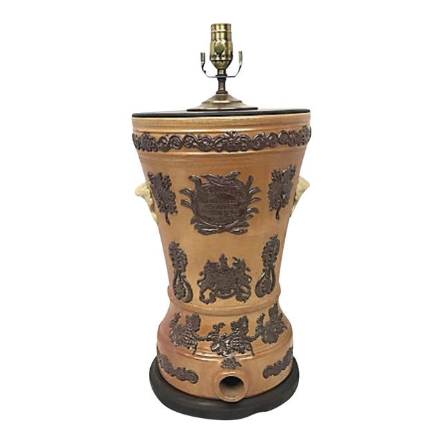 19th Century Ceramic Water Filter Lamp For Sale