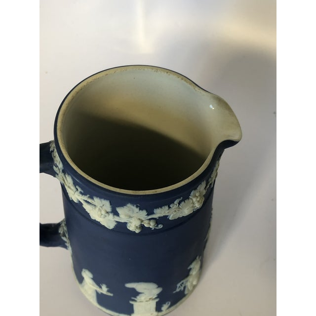 Blue Antique Wedgwood Jasperware Pitcher For Sale - Image 8 of 9