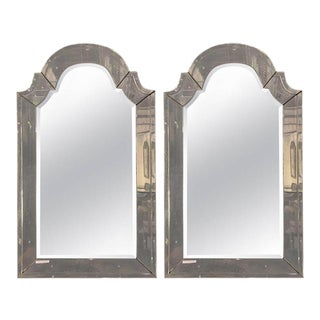 Classic Arch Top Venetian Style Mirrors - A Pair