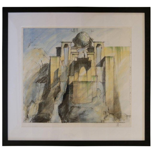 "Rare 2002 Set Design Sketch From ""Dinotopia"" For Sale In Los Angeles - Image 6 of 6"