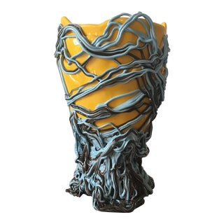 Gaetano Pesce Blue Brown Yellow Vase For Sale
