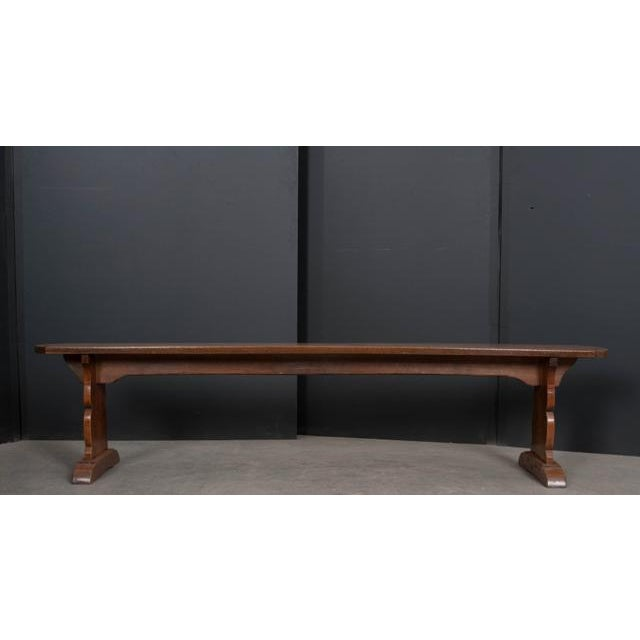 Pair of French 19th Century Provincial Oak Benches For Sale - Image 11 of 13