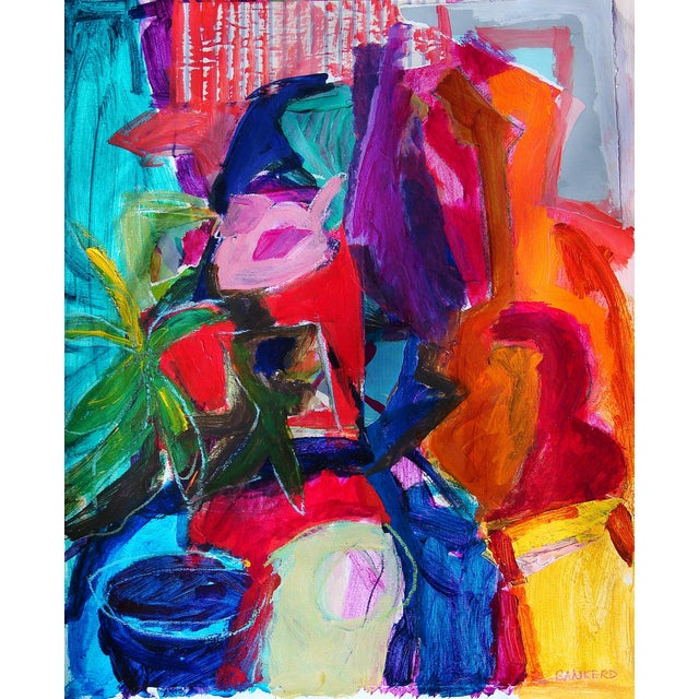 Abstract Still Life #2 Painting Collage For Sale