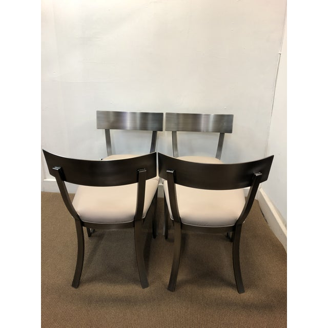 Art Deco Design Institute of America Contemporary Dining Chairs - Set of 4 For Sale - Image 3 of 9