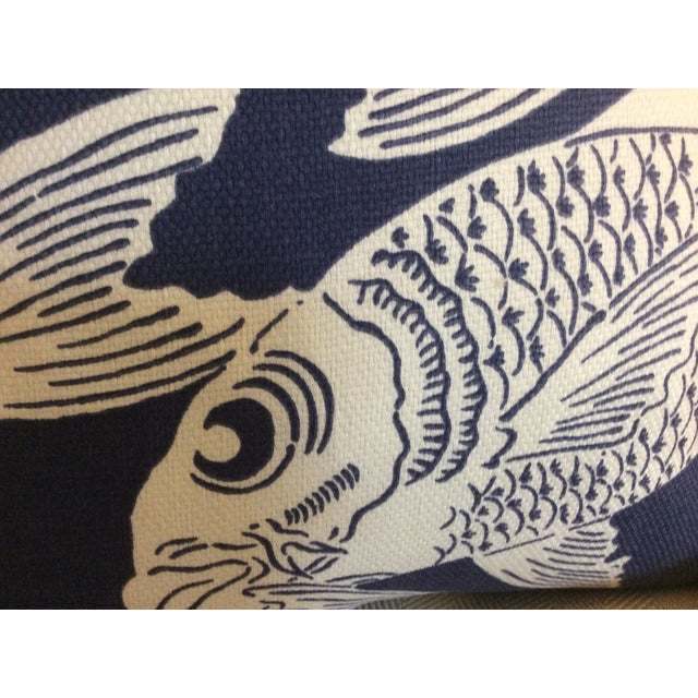 """Manuel Canovas """"Calypso"""" Navy Pillows - A Pair - Image 3 of 4"""