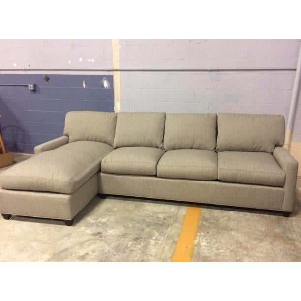Brand new sectional sofa, upholstered in stain-resistant polypropylene Performance fabric. Cushions are a down blend fill...
