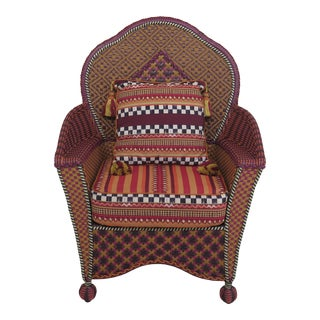 Mackenzie-Childs High Back Throne Chair For Sale