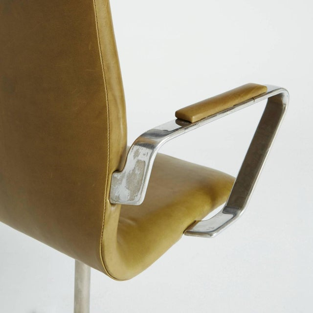 Arne Jacobsen Leather Oxford Chair - Image 6 of 11