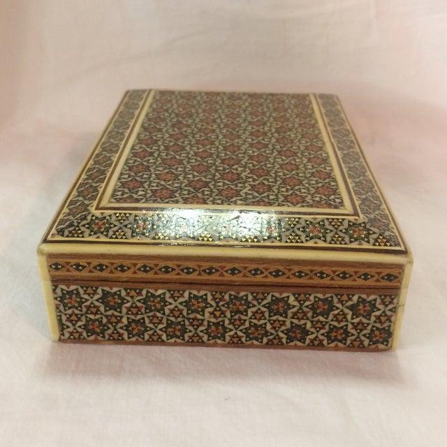 Persian Wood Inlay Box - Image 3 of 10