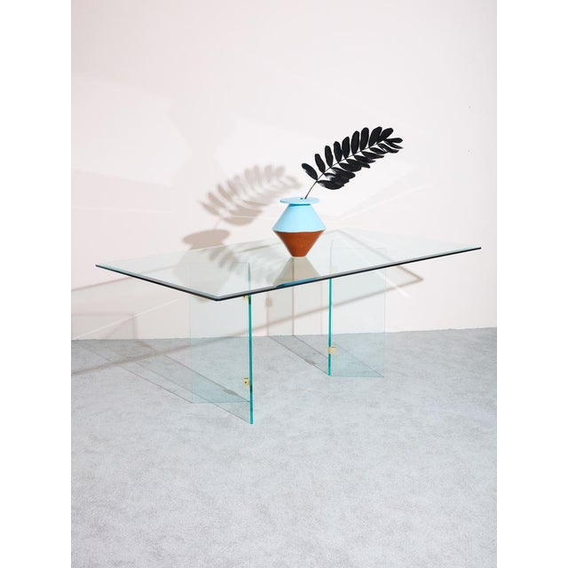 Pace Collection 1980s Pace Collection Glass Dining Table For Sale - Image 4 of 6