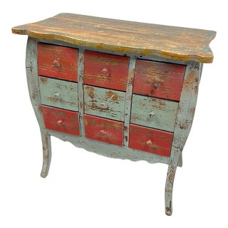 Vintage Country Rustic Distressed Sideboard For Sale