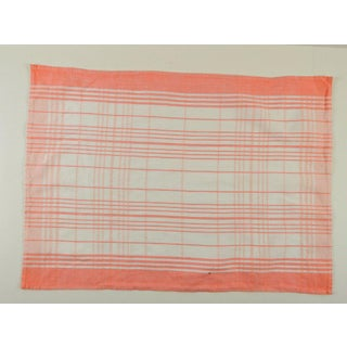 Vintage Peach Check Cotton Hand Towel Preview