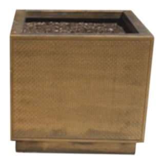 American Art Deco Large Outdoor Bronze Rectangular Planter For Sale